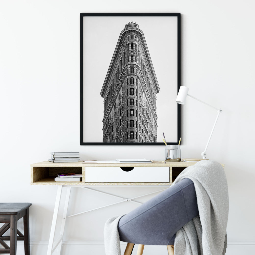 Decorate your home or office with a New York Flatiron Building Black & White Photo from The Neighbourhood Unit