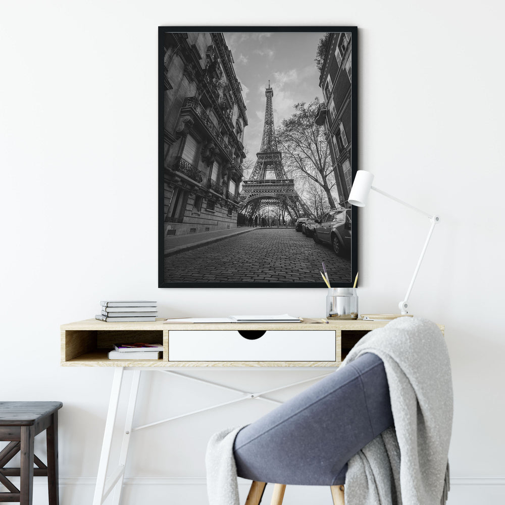 Decorate your home or office with a Paris Eiffel Tower Black & White Photo from The Neighbourhood Unit