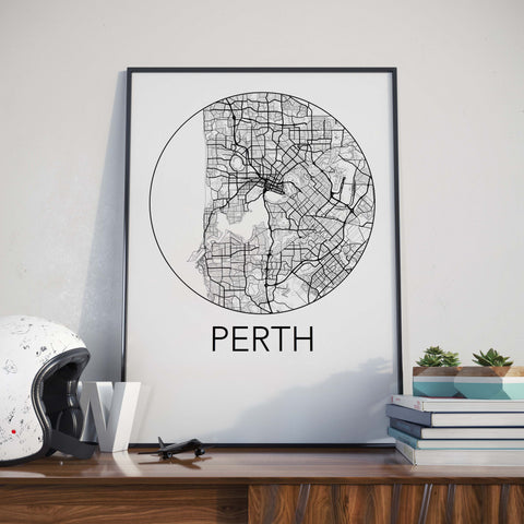 Perth, Australia Minimalist City Map Print