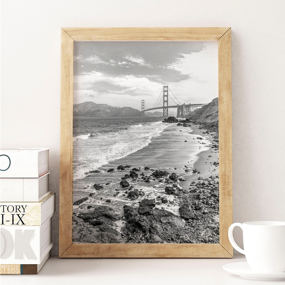 Decorate your home or office with a San Francisco Golden Gate Bridge Black & White Photo from The Neighbourhood Unit