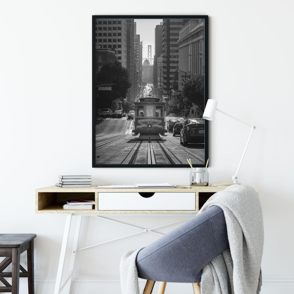 Decorate your home or office with a San Francisco Streetcar Bridge Black & White Photo from The Neighbourhood Unit