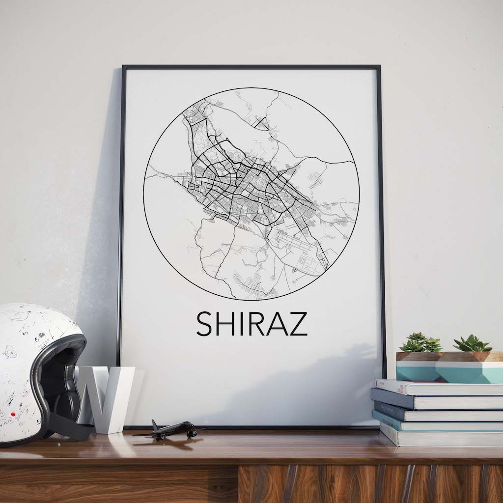 Shiraz, Iran Minimalist City Map Print