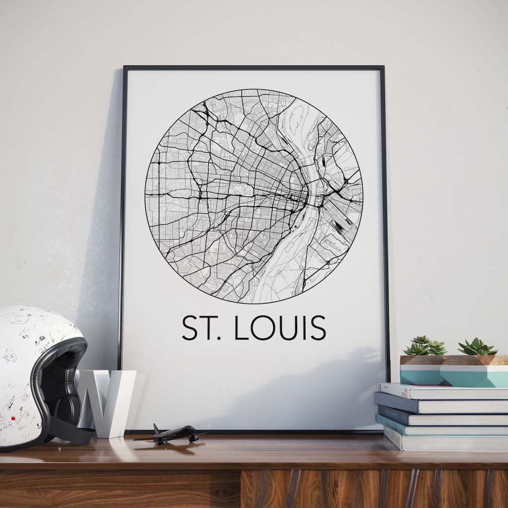 St, Louis, Missouri Minimalist City Map Print