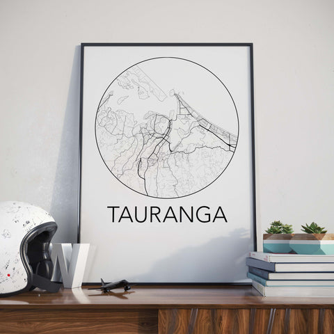 Tauranga, New Zealand Minimalist City Map Print