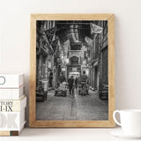 Decorate your home or office with a Tehran Bazaar Black & White Photo from The Neighbourhood Unit