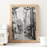 Decorate your home or office with a Tokyo Nakano Black & White Photo from The Neighbourhood Unit