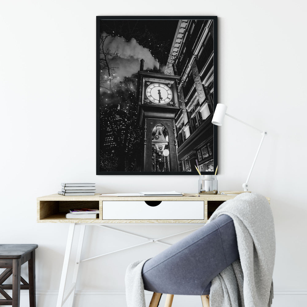 Decorate your home or office with a Vancouver Gastown Black & White Photo from The Neighbourhood Unit