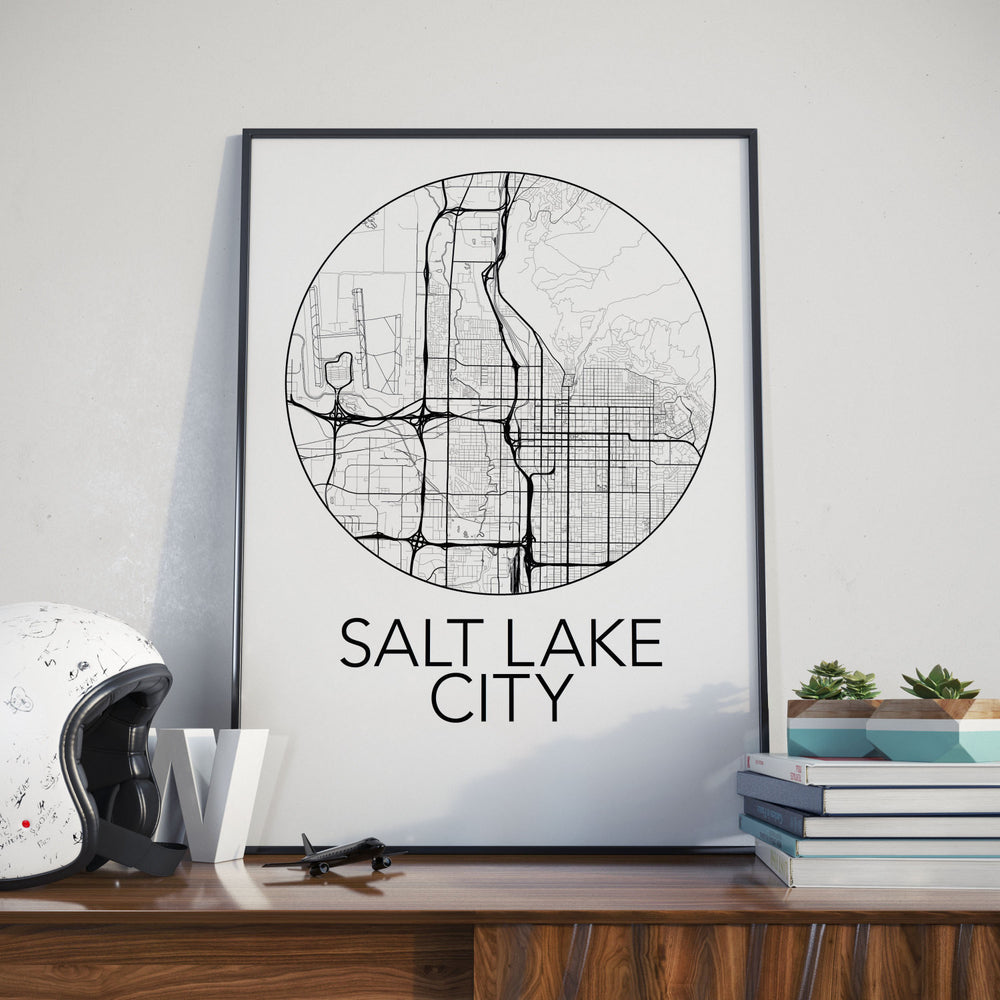 Decorate your home or office with a Salt Lake, Utah Minimalist City Map Print from The Neighbourhood Unit