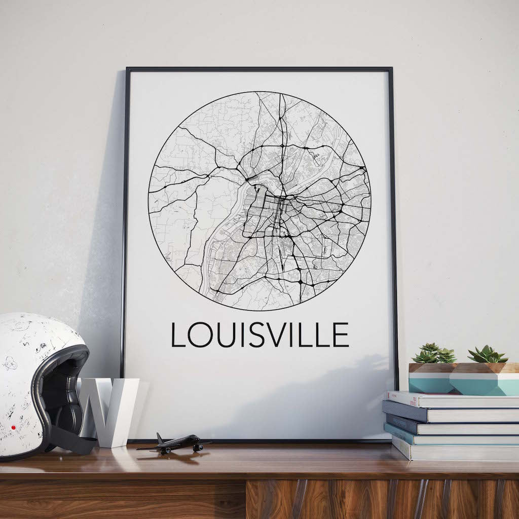 Louisville, Kentucky Minimalist City Map Print