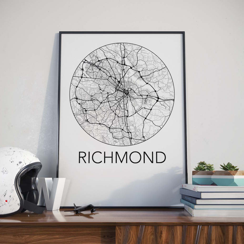 Richmond, Virginia Minimalist City Map Print