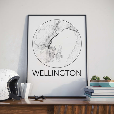 Wellington, New Zealand Minimalist City Map Print