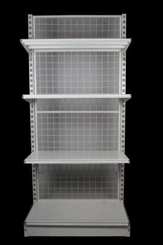 FALCON™ Mesh Gondola Shelving Standard 0.9m(w) x 0.45m(D) x 2m(H) Single Sided - 60KGP/level - Australia No.1 Online store -  5 years warranty - 1200 KG loading - Falcon Shelving™