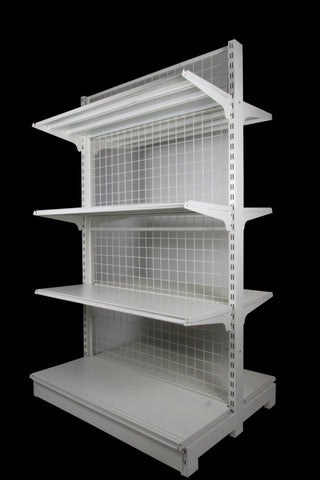 FALCON™ Mesh Gondola Shelving Standard 0.9m(w) x 0.45m(D) x 2m(H) Double Sided - 60KGP/level - Australia No.1 Online store -  5 years warranty - 1200 KG loading - Falcon Shelving™