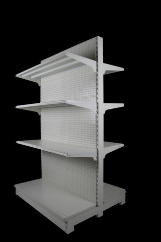 FALCON™ Pegboard Gondola Shelving Standard 0.9m(w) x 0.45m(D) x 2m(H) Double Sided - 60KGP/level - Australia No.1 Online store -  5 years warranty - 1200 KG loading - Falcon Shelving™