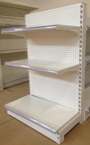 FALCON™ Pegboard Gondola Shelving Standard 1.2m(w) x 0.45m(D) x 1.4m(H) Single Sided - 60KGP/level - Australia No.1 Online store -  5 years warranty - 1200 KG loading - Falcon Shelving™