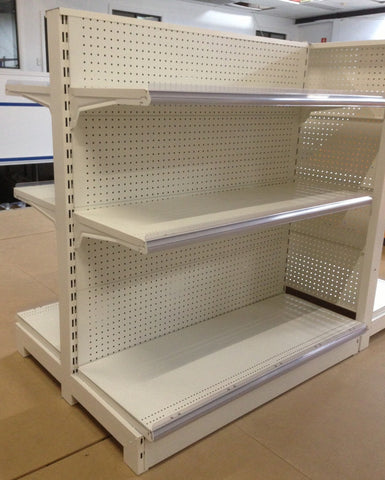 FALCON™ Pegboard Gondola Shelving Standard 1.2m(w) x 0.45m(D) x 1.4m(H) Double Sided - 60KGP/level - Australia No.1 Online store -  5 years warranty - 1200 KG loading - Falcon Shelving™
