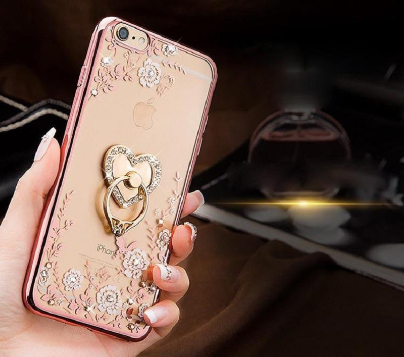 Luxury Ring Holder Stylish TPU Case Cover for iPhone