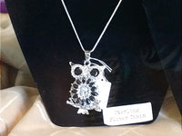 Owl Pendant with 18mm snap and sterling sliver chain