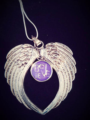 HOT NEW SNAP AND SWITCH Angel wing Pendant with 5 18mm Snaps