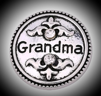 18 mm noosa snap grandma with rhinestones