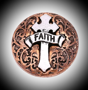 Deluxe 18mm noosa snap cross and faith multicolored