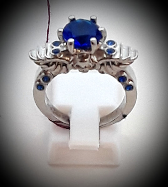 Angel wings and skull ring size 8