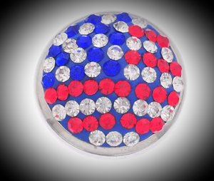 USA rhinestone 18mm noosa snap
