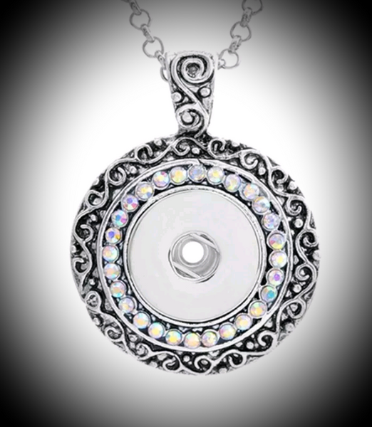 18mm noosa snap pendant with rhinestones