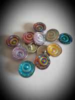 18mm Noosa Snaps multiple colors Peacock eyes