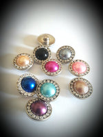 HOT NEW SNAP AND SWITCH 18mm  Snaps multiple colors Fashion pearl with rhinestones