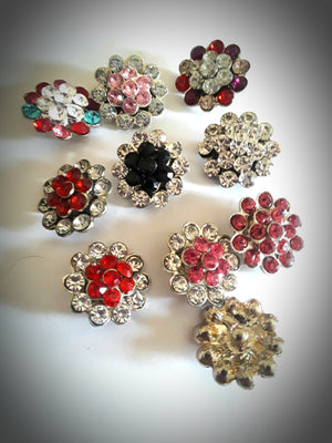 HOT NEW FASHION SNAP AND SWITCH 18mm  Snaps multiple colors Rhinestone clusters