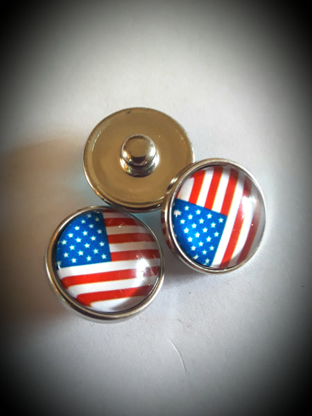 18mm noosa snaps USA flag