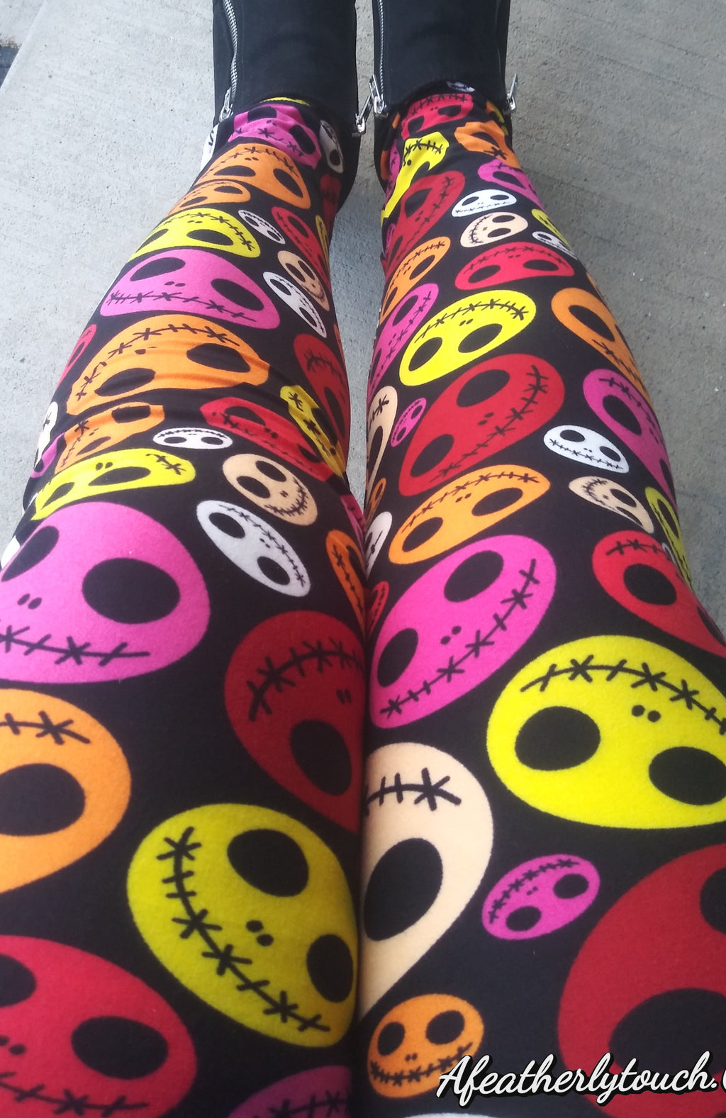 Buttercream soft leggings Jack face