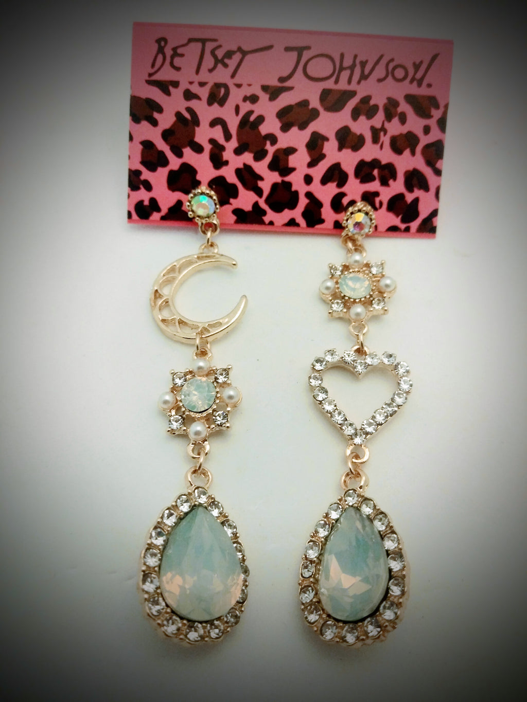 Unique, and Beautiful Betsey Johnson Bohiemiam style earrings
