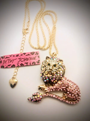Gorgeous Betsey Johnson Lion perfect for your favorite Leo