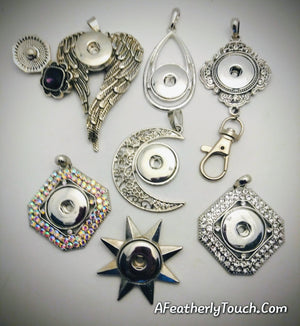 A variety of snap pendants 18mm noosa snaps