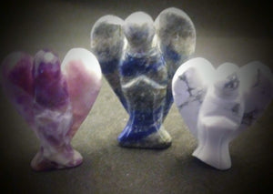Crystal Angels lapis, amythist, and howlite