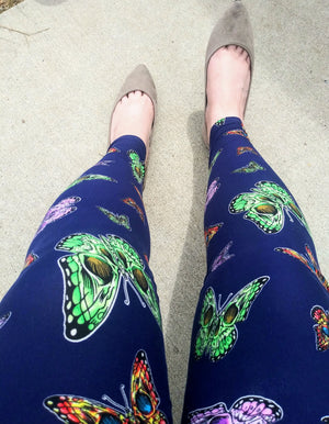 Buttercream soft leggings Butterfly Skelton