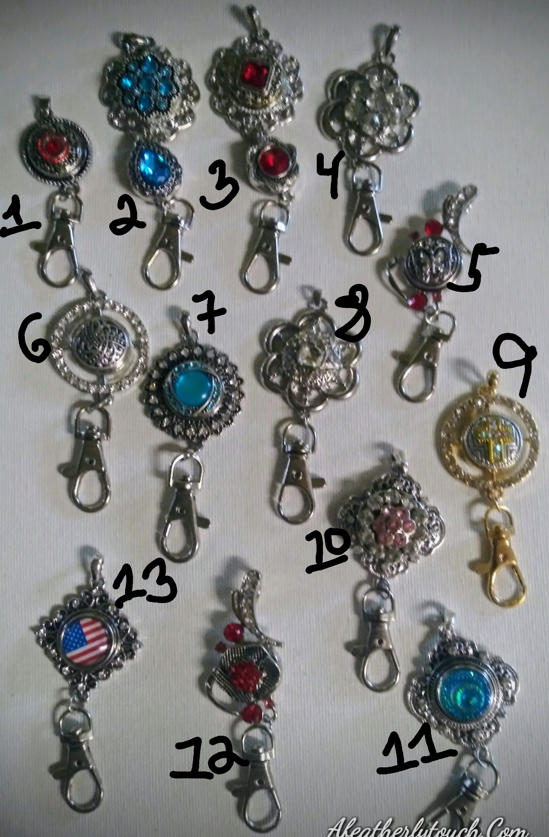 Snap keychain pendants 18mm snaps