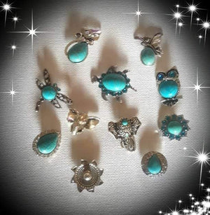 18mm turquoise bohemian style noosa snaps