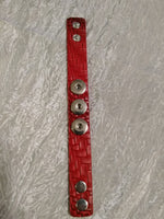 Hot 🔥 new snap jewelry Leather Red bracelet 18mm snap