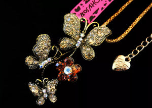Betsey Johnson crystal rhinestone butterflies