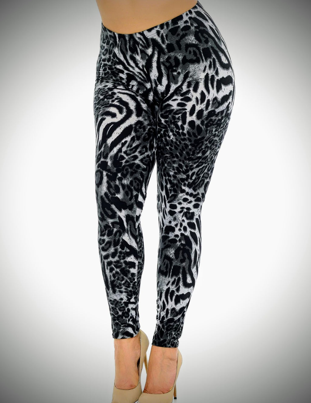Buttercream soft leggings white tiger
