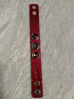 Hot 🔥 new snap jewelry Leather burgundy bracelet 18mm snapS