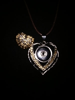 Hot 🔥 new snap jewelry heart pendant