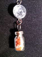 Crystals in a bottle citrine necklace with removable snap