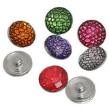 HOT NEW FASHION SNAP AND SWITCH 18mm Snake Skin Pattern Snaps in multiple colors