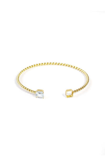 MIRROR MIRROR YELLOW GOLD BANGLE