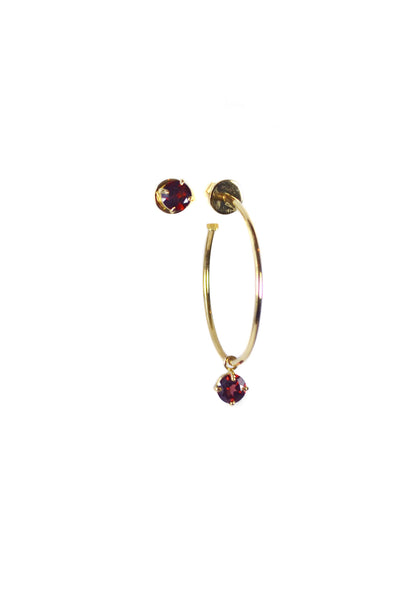 PRISTINE TRIBE EARRINGS - GARNET