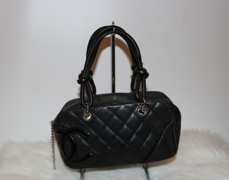 Chanel Quilted Cambon Mini Bowler Bag